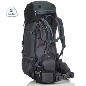 Deuter AIRCONTACT 55 + 10 Litre Black-Titan Rucksack | 4046051069425 | Trekking & Hiking Backpacks [ HSN 4202