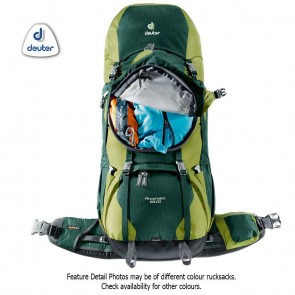 Deuter AIRCONTACT 65 + 10 Litre Forest-Moss (Green) Rucksack | 4046051069463 | Trekking & Hiking Backpacks [ HSN 4202