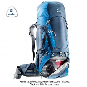 Deuter AIRCONTACT 75 + 10 Litre Arctic-Navy (Blue) Rucksack | 4046051069494 | Trekking & Hiking Backpacks [ HSN 4202