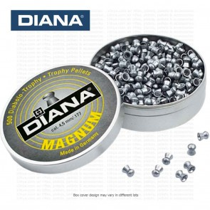 Diana Magnum Diabolo | German Round Head Pellets | 0,56 g, 8.6 gr | 0.177 - 4.5mm | 500 Pellets for Air Rifles [ HSN 93062900