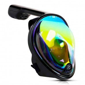 10Dare Diving Snorkelling Full Face Mask with GoPro Mount | Rainbow 360º View |Underwater Swimming - Scuba Diving Water-Tight Mask with Breathing Protection