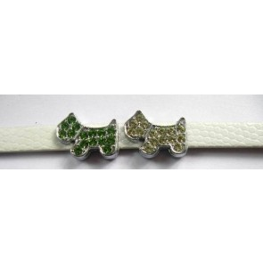 Puppy Love - Dog Charms With Colored Stone