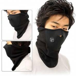 10Dare Balaclava Half Face Fleece Warm Thermal Veil Mask   Face & Neck Protection   Black   Winter Wear   Cycling, Skiing, Biking, Cold Wind Safety