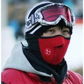 10Dare Balaclava Half Face Fleece Warm Thermal Veil Mask   Face & Neck Protection   Red   Winter Wear   Cycling, Skiing, Biking, Cold Wind Safety