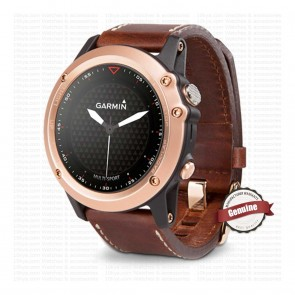 Garmin Fenix 3 Sapphire Rose Gold with Leather Band