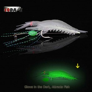 10Dare Fishing Bait - Shrimps Glow In Dark Baits | White | 6g 9cm ABS |  Fishing Lures & Baits [HSN 9507