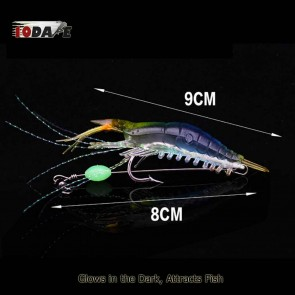 10Dare Fishing Bait - Shrimps Glow In Dark Baits   Lime Yellow/Blue   6g 9cm ABS    Fishing Lures & Baits [HSN 9507