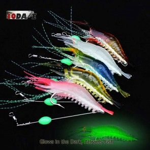 10Dare Fishing Bait - Shrimps Glow In Dark Baits | Flesh Pink | 6g 9cm ABS |  Fishing Lures & Baits [HSN 9507