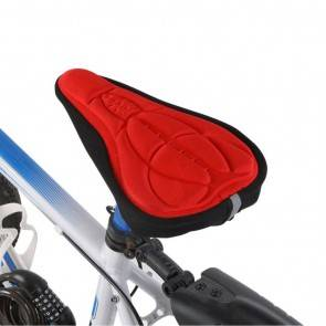 10Dare Cycle Gel Seat Cover   Red   Comfortable Cushion Soft Seat Cover for Bike Saddle   Cycling Saddles and Covers