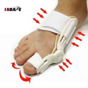 10Dare Hallux Valgus Aligner Splint | Single Foot (1 Pcs) | Foot Thumb Rehabilitation | Big Toe Separator | Foot Care Orthopaedic Braces [HSN 9021