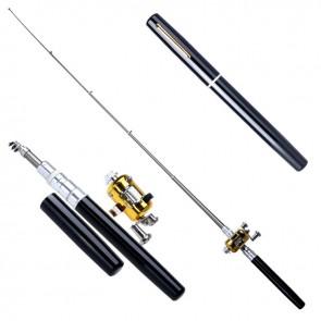 Pen Pocket Fishing Telescopic Rod Black   10kya.com Fishing Store Online