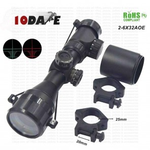 10Dare 2-6x32 AOE Scope with Cross Hair | 10kya.com Airguns Scopes & Sights India
