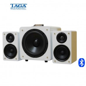 TAGA Harmony inTONE 2.1 Active Speakers | White or Black | High End Powered Speakers with Sub-Woofer  [HSN 85182900