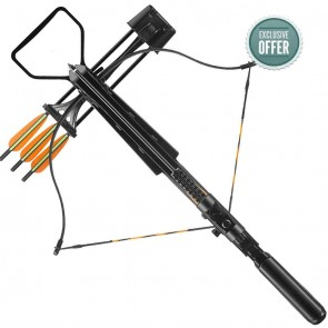 EK Archery 175lbs Crossbow Jaguar II Package | Red Dot Sight & 3 Arrows | Archery Bows & Arrows [ HSN 95069990