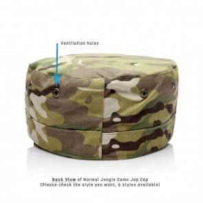 10Dare Camo Army Patrol Cap   C2- Dark Jungle Camo   59cm Head, 8.5 CM High   Indian & US Army Jungle Cap for Men & Women   Cotton   Outdoor Headgear [HSN 6501