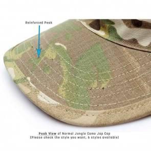 10Dare Camo Army Patrol Cap | C5 Digital Dark Jungle Camo | 59cm Head, 8.5 CM High | Indian & US Army Jungle Cap for Men & Women | Cotton | Outdoor Headgear [HSN 6501