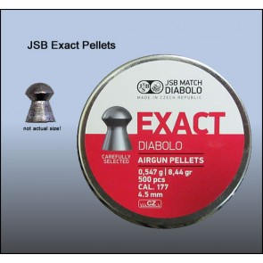 JSB Exact Diabolo | 0.177 Cal | 8.44 Grains | 500 Pellets | Domed