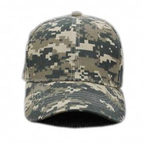 10Dare Camo Cap with Long Peak | Digital Camouflage | 56cm-59cm(Adjustable) Head, 7.5 CM Long Peak | Baseball or Dad Cap for Men & Women | Cotton | Outdoor Headgear [HSN 6501