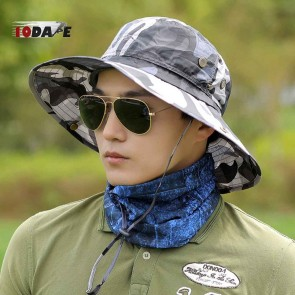 10Dare Jungle Outdoor Wide Brimmed Sun Hats | 54-60 cm Adjustable | Cotton Camo | Outdoor Headgear [HSN 6501