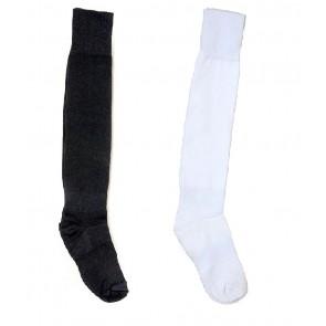 International Standard Design Black and White Football Socks - 2 Pairs | kfootballblacknwhitepc01