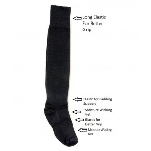 International Standard Design Black and White Football Socks - 4 Pairs | kfootballblacknwhitepc02 [ HSN 61