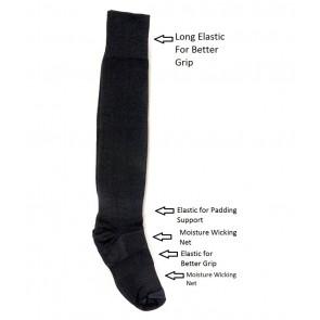 International Standard Design Black Football Socks - 1 Pair | kfootballblackpc01 [ HSN 61
