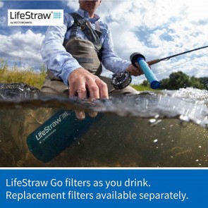 Lifestraw Go 2Stage Water Filter with Bottle - Pink | LSGOV2CR51  [ HSN 84212120