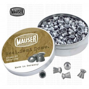 Mauser Real Semi-Dome Diabolo | 0.177 4.5mm | 500 Pellets | 10kya Airgun India Store