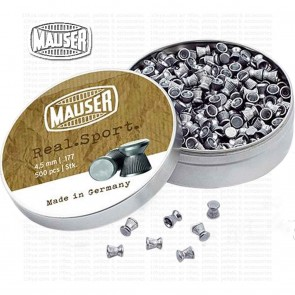 Mauser Real Sport Diabolo | 0.177 4.5mm | 500 Pellets | 10kya Airgun India Store