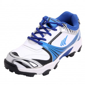Mayor Royal Blue-White Kent Cricket Shoes-MCS6002