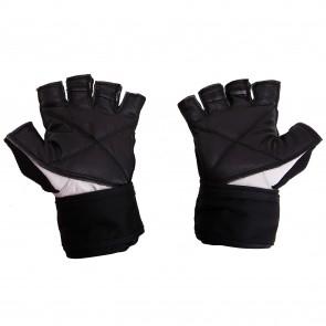 Mayor Congo Black-White Gym Gloves-MGG100