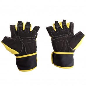 Mayor Pacifico Yellow-Black Gym Gloves-MGG400