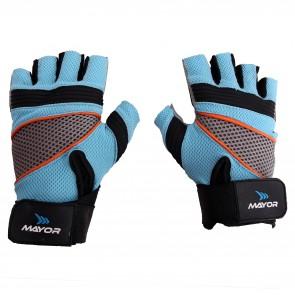buy Mayor Granada Aqua Blue-Black Gym Gloves-MGG500 best price 10kya.com