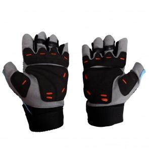 Mayor Granada Aqua Blue-Black Gym Gloves-MGG500