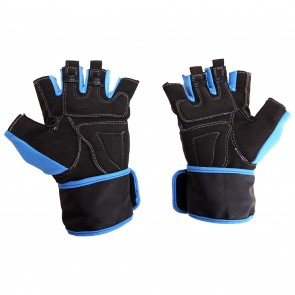 Mayor Pacifico Blue-Black Gym Gloves-MGG700