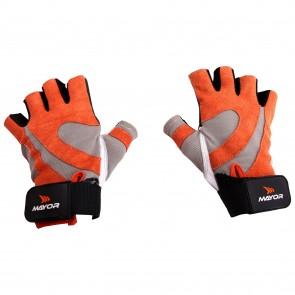 buy Mayor Victoria Orange-Charcol Gym Gloves-MGG800 best price 10kya.com
