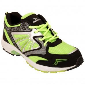 Mayor Snapper Black-Lime Green Running Shoes-MRS8102