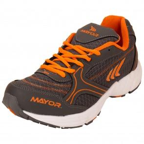 Mayor Krane Charcoal-Orange Running Shoes-MRS9201