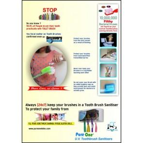 PureOne UV Tooth Brush Sanitiser Cum Plasma Air Purifier [ HSN 84213920