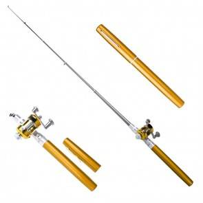 Pen Pocket Fishing Telescopic Rod Gold | 10kya.com Fishing Store Online