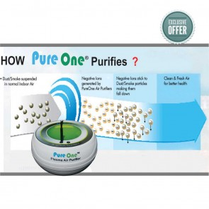 Pure One Plasma Room Air Purifier | Pollution Free Indoor Air [ HSN 84213920