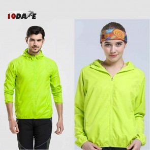 10Dare Raincut Waterproof Jacket | Lime Green | Bikers, Hiking Rain Coats | GenTex Lightweight with 2 Pockets | Carry Bag | Outdoor Rain Protection Apparel
