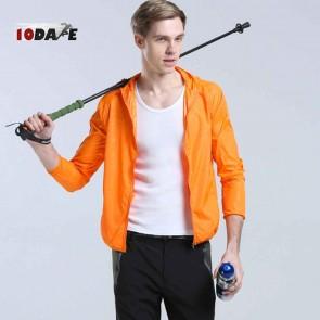 10Dare Raincut Waterproof Jacket   Orange   Bikers, Hiking Rain Coats   GenTex Lightweight with 2 Pockets   Carry Bag   Outdoor Rain Protection Apparel