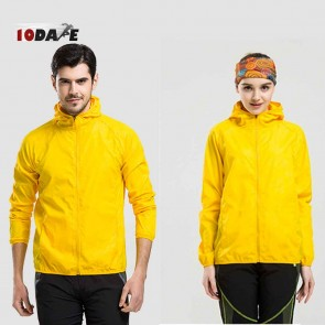10Dare Raincut Waterproof Jacket | Lemon Yellow | Bikers, Hiking Rain Coats | GenTex Lightweight with 2 Pockets | Carry Bag | Outdoor Rain Protection Apparel