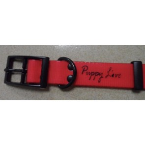 Puppy Love - TPU Coated Nylon Webbing Pet Collars - Red - Large