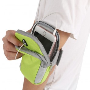 Arm Band Bag for iPhone & Android Phones | Green Bag for Mobile [ HSN 4202