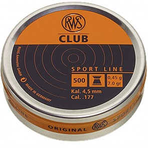 Buy Online India RWS Germany Air Rifle Pellets | RWS Club 0.177 Pellets | 10kya.com Airgun India Store