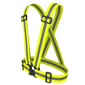 Reflective Safety Jacket X-Straps | for Cyclists, Bikers | 10kya.com Cycling Safety Store Online