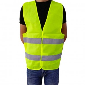10Dare Reflective Safety Jacket   Yellow   for Cyclists, Bikers, Sportsmen, Workers, Fishermen, Outdoorsmen    1 Vest Pack   Safety & Security Gear