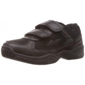 Nivia Unisex Black Vinyl Kids School Shoes